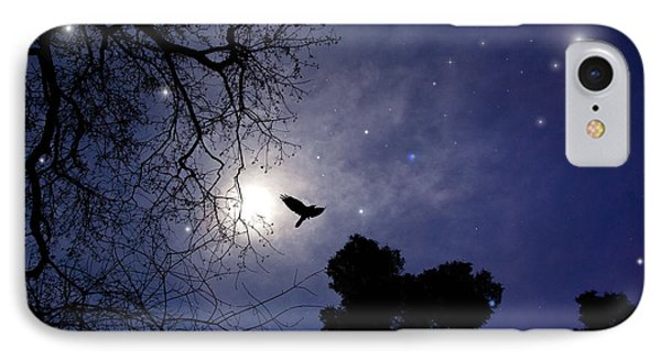 Flying By The Moon IPhone Case