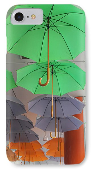Flying Colorful Umbrellas  Phone Case by Diana Dimitrova