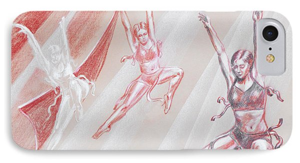 Flying Dancers  Phone Case by Irina Sztukowski
