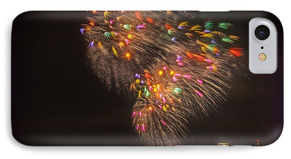 Flying Feathers Of Boston Fireworks Phone Case by Sylvia J Zarco