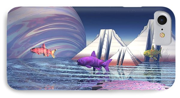IPhone Case featuring the digital art Flying Fish by Jacqueline Lloyd