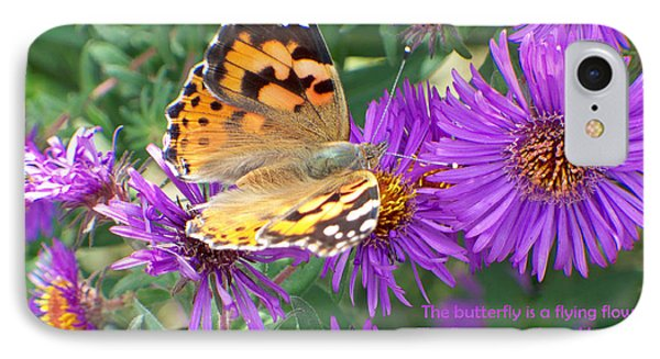 Flying Flower IPhone Case by Sylvia Thornton