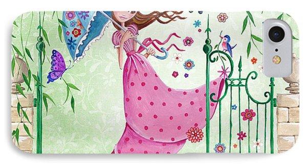 Flying Flowers IPhone Case by Caroline Bonne-Muller