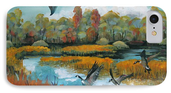 Flying Geese Feet Phone Case by Art Nomad Sandra  Hansen