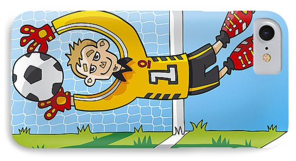 Flying Goalkeeper Catching Ball IPhone Case