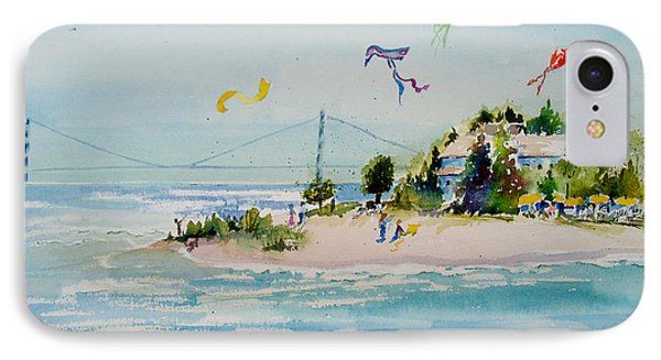 Flying High On Mackinac Island IPhone Case by Sandra Strohschein