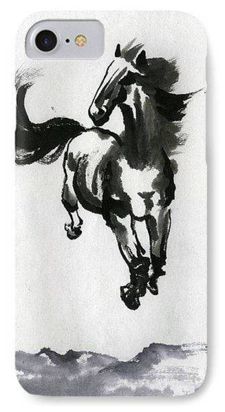 Flying Horse IPhone Case by Ping Yan