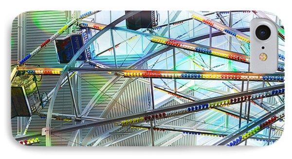 Flying Inside Ferris Wheel Phone Case by Luther Fine Art