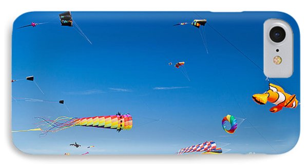 Flying Kites At St Augustine Beach Pier IPhone Case by Michelle Wiarda