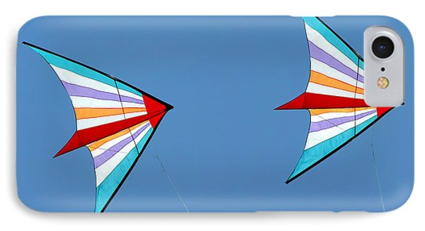 Flying Kites Into The Wind IPhone Case by Christine Till