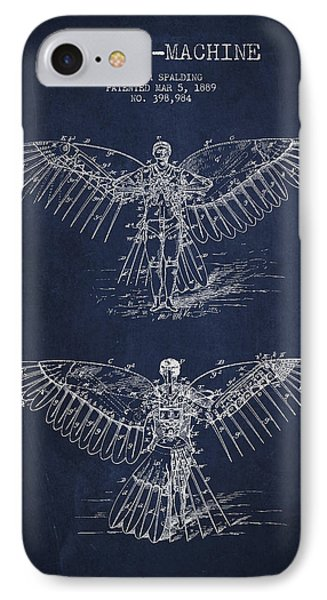 Flying Machine Patent Drawing IPhone Case by Aged Pixel