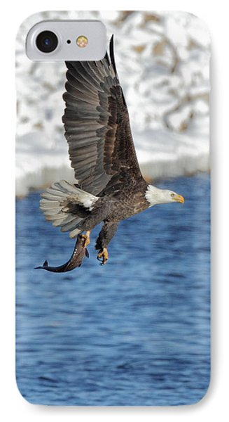 Flying Off With The Catch IPhone Case by Coby Cooper