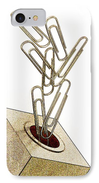 Flying Paperclips IPhone Case by Carol Leigh