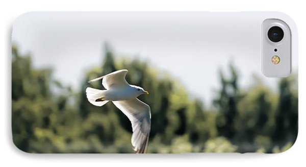IPhone Case featuring the photograph Flying Seagull by Leif Sohlman