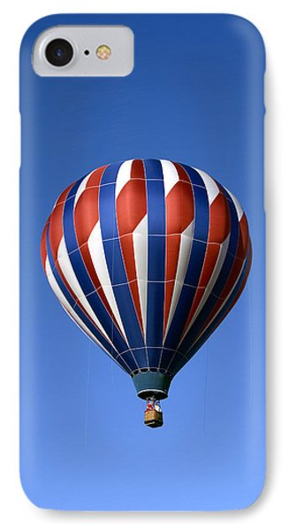 IPhone Case featuring the photograph Flying The Red White And Blue Iphone Case by Gene Walls