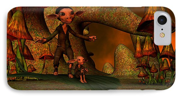 IPhone Case featuring the digital art Flying Through A Wonderland by Gabiw Art