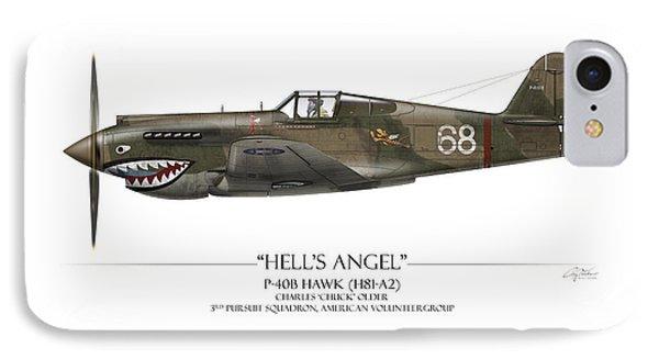 Flying Tiger P-40 Warhawk - White Background IPhone Case