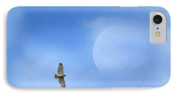 Flying To The Moon IPhone Case by Bill Wakeley