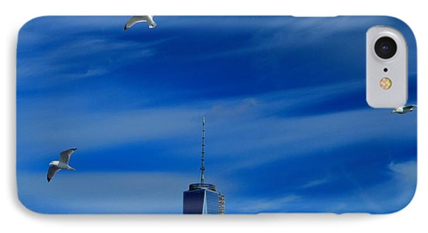Flyover One World Trade Center IPhone Case by Dan Sproul