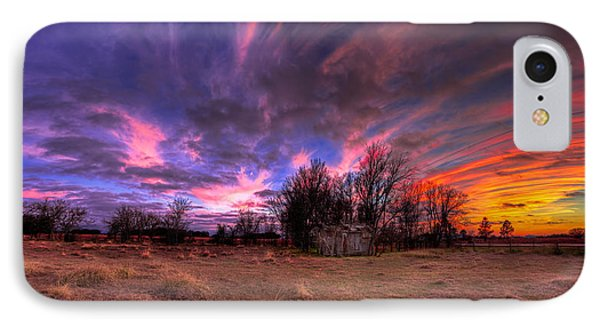Fm Sunset Pano In Needville Texas IPhone Case