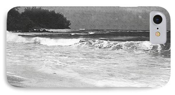 Foamy Surf Pencil Rendering IPhone Case by Frank Wilson