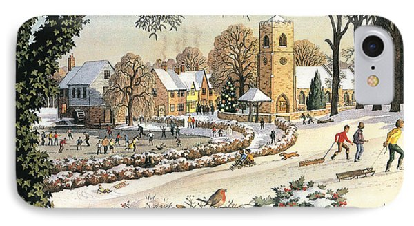 Focus On Christmas Time IPhone Case by Ronald Lampitt