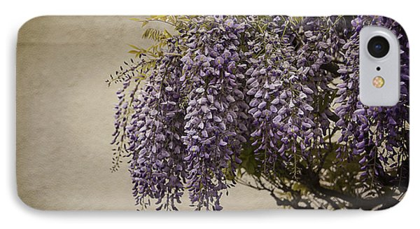 Focus On Wisteria Phone Case by Terry Rowe