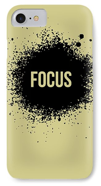 Focus Poster Grey IPhone Case