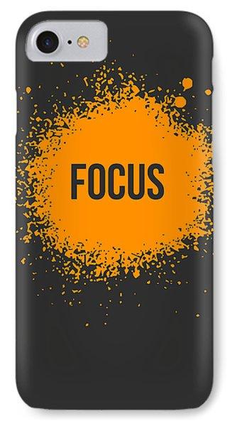Focus Splatter Poster 3 IPhone Case by Naxart Studio
