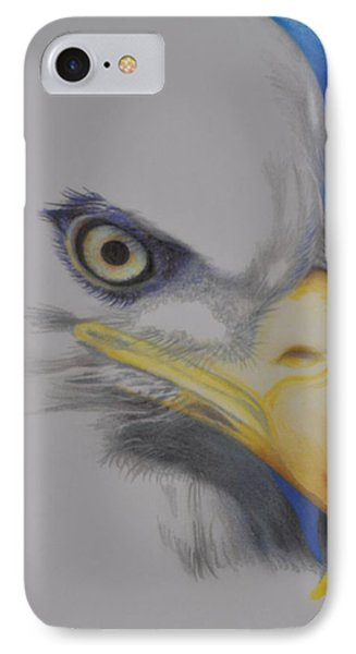 Focused Eagle IPhone Case by Linda Ferreira