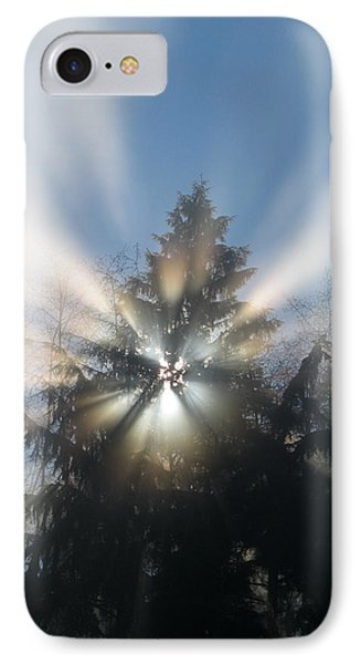 Fog And Light Rays IPhone Case by Brian Chase