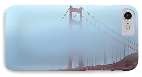 IPhone Case featuring the photograph Fog And The Golden Gate by Jonathan Nguyen