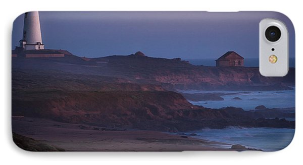 Fog Forming Over Piedras Blancas....  San Simeon IPhone Case by Tim Bryan