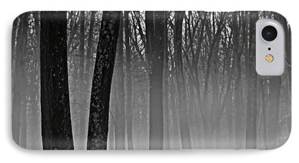 Fog In The Dark Forest IPhone Case by Diana Boyd
