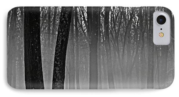 Fog In The Dark Forest IPhone Case