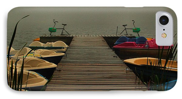 Fog On The  Dock IPhone Case by Steven Reed