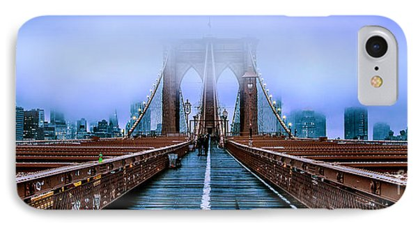 Fog Over The Brooklyn IPhone Case by Az Jackson