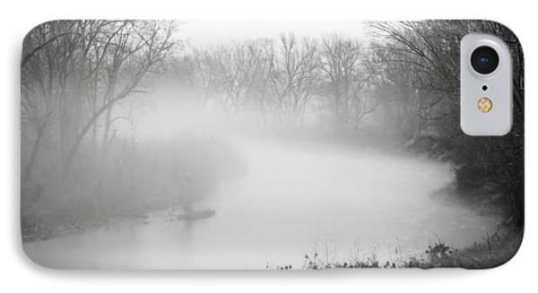 Fog Over The Stream IPhone Case by Diana Boyd