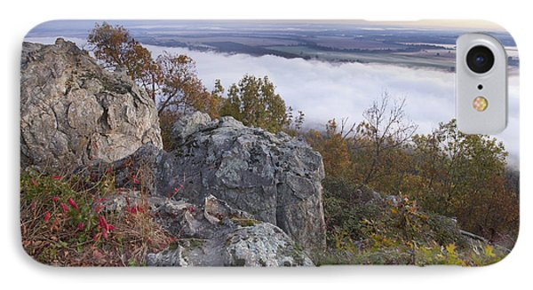 Fog Over Valley Petit Jean State Park IPhone Case by Tim Fitzharris
