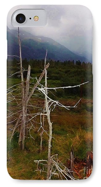 IPhone Case featuring the photograph Fog Rolling In Over Mountains by Brigitte Emme