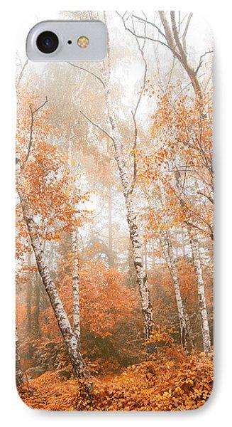 Foggy Autumn Aspens IPhone Case by Eti Reid