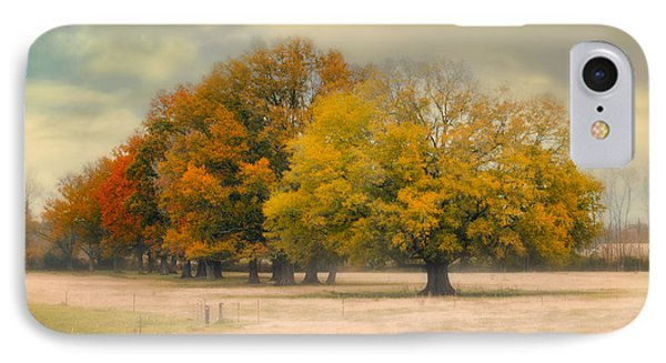Foggy Autumn Morning - Fall Landscape IPhone Case by Jai Johnson
