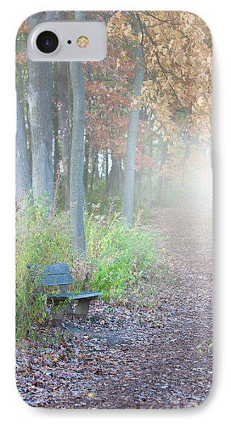 Foggy Autumn Morning IPhone Case by Sebastian Musial