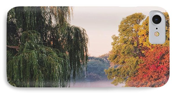 IPhone Case featuring the photograph Foggy Autumn by Nikki McInnes