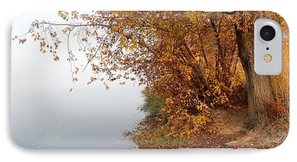 Foggy Autumn Riverbank Phone Case by Carol Groenen