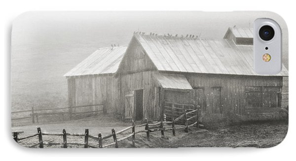 Foggy Barn IPhone Case by Joan Davis