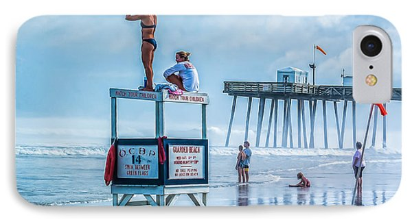 Foggy Beach View IPhone Case by Nick Zelinsky