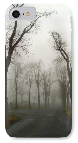 Foggy Cemetery Road IPhone Case by Gothicrow Images