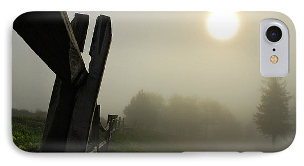 Foggy Country Road Phone Case by Lois Bryan