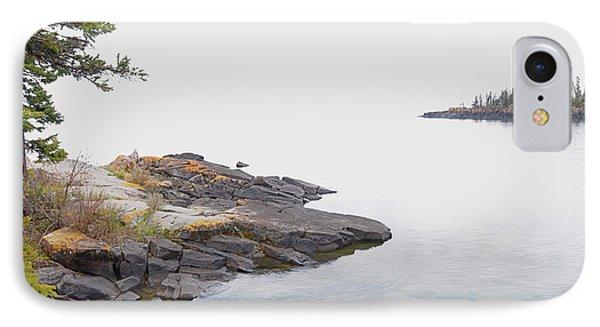 Foggy Day On Lake Superior 2 Phone Case by Sandra Updyke